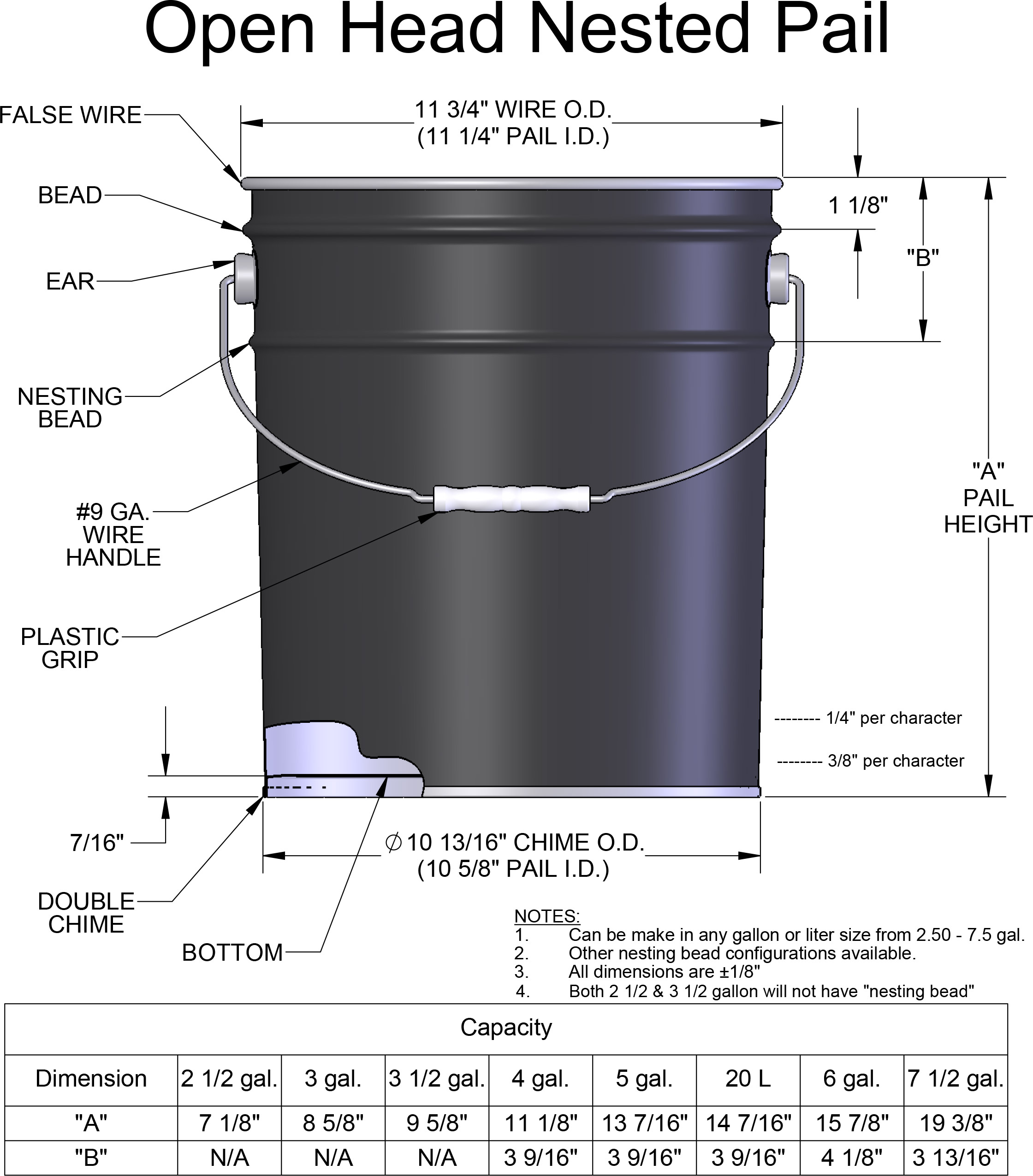 5 Gallon Steel Pail Metal Pail With Lid Lug Covers
